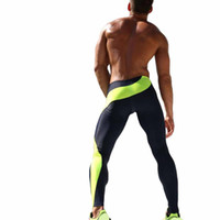 Wholesale- Hommes Fitness Yoga Compression Man Pantalons pour la course Gym Man Sports Pants Gymwear pour les garçons Full Length Running Lights LHD-CK4