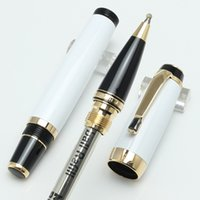 Wholesale Roller Metal - Classique black resin Rollerball bohemee Bleu Roller ball PEN MB,Luxury PENS with MB white star inlay with number on pen cilp