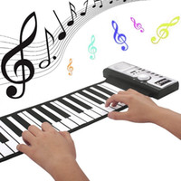 Wholesale Electronic Piano Toy Microphone - Roll-Up Piano Portable Flexible Electronic Piano Keyboard with Full 61 Soft Responsive Keys Synthesizer Built-in Speaker Microphone