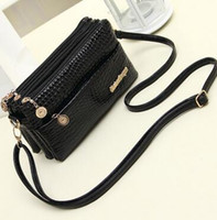 Wholesale Smallest Mini Mobile Phone - 2017 new summer ladies small messenger bag shoulder bag crocodile pattern female bag mobile phone wallet