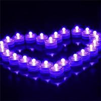 ingrosso luci a tè bianco a batteria-Romantico Luci a lume di candela sommergibili Luci subacquee a LED a tenuta stagna Luci a LED a batteria a luce bianca