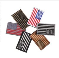 Wholesale Iron Patches Flags - 2017 Embroidered thread American Flag Embroidered Patch Patriotic USA Military tactics Patch Iron-On or Sew to Any Garment