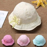 Wholesale Girl Spot Hats - Baby hat spring and summer men and women baby sunscreen sun hat wild fight newborn cotton cap spot wholesale