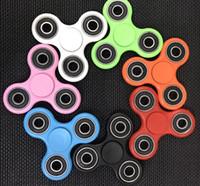 Wholesale 1000pcs EDC Fidget Spinner toy finger spinner toy Hand tri spinner Handspinner Decompression Anxiety Toys Desk Focus Finger Spinning
