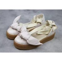 Wholesale Khaki Girl Bottoms - Women Girl High X FENTY BOW CREEPER SANDAL Sandals The Flat Bottomed Outdoor Weaves Stretch Back To The Stream Casual Walking Shoes