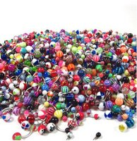 Wholesale Acrylic Button Assorted - Assorted Lot of 500pcs Banana Piercing 14G Belly Button Rings Piercing Jewelry