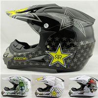 Wholesale Motorcycle Cross Helmets - Wholesale- Vcoros Rockstar motorcycle helmet ATV Dirt bike downhill cross capacete da motocicleta casco moto motocross off road helmets