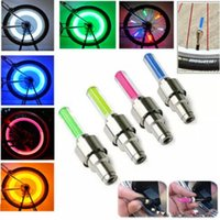 Bike LED Flash Light Bicycle Firefly Spoke LED Roue Valve Tige Cap Tire Motion Neon Light Lamp Car Moto Lights With Package