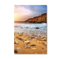 Wholesale Sun Painting Modern Art - ARTPIONEER free shipping Modern Home Wall Decor Art Print canvas image HD Photographic works of art from the canvas sun and sea