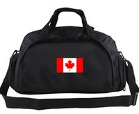 Wholesale Applique Flags Outdoors - Canada duffel bag Fashionable casual tote Leaf flag backpack Football luggage Sport shoulder duffle Outdoor sling pack