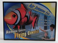 Wholesale Fish Swimmers - Flying fish remote control tNEW Flying Fish Remote Control Toys Air Swimmer Inflatable Plaything Clownfish Big Shark Toy Children Gifts