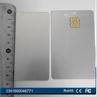 Wholesale Magnetic Card Access Control - Wholesale- 100PCS Lot PVC blank SLE4428 sliver card Contact ISO7816 big chip SmartCard For Access Control With Free Shipping