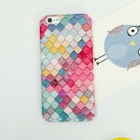 Wholesale Korean Iphone Case Wholesale - Fashion Colorful 3D Scales Phone Cases For iPhone 6 6s 7 Case Korean Girls Mermaid Cover For Apple iPhone 7 6 6s Plus
