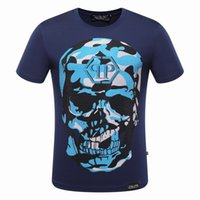 Wholesale El Panel Flashing - The Punisher Skull Men Fashion T Shirt Print Marvel Comics PLEIN-PHILIPP Clothes Hip-Hop Style Summer PP T-Shirt Devil Design