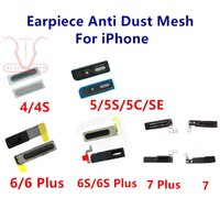 Wholesale Iphone Dust Mesh - Ear Speaker Earpiece Anti Dust Screen Mesh for iPhone 4S 5G 5s 5c SE 6 6s 7 Plus 4.7 5.5 Replacement
