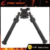 Wholesale 2017 New BT10 LW17 V8 Atlas degrees Adjustable Precision Bipod QD Mount For Rafile Hunting Mount