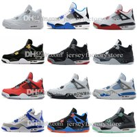 Chaussures de Basketball Hommes Hommes Hommes Hommes 4s Pure Money Royalty White Ciment Elevé Bleu Sports Bleus Sports Sneakers US 8-13