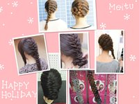 Wholesale Hottest Products Buy - Hot Sale Wig Braided Hair Clip Styling Tools Braiders Women Braided In Stock Hair Products French Twist 6 Colors Choose Buy Get Gift DE019