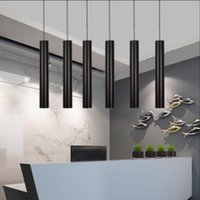 Wholesale Hotels Island - led Pendant lights Lamp Kitchen Island Dining Living Room Shop Decoration, Cylinder Pipe Office cylinder straight circular lamp of droplight