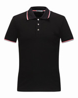 Wholesale British Costumes - M1522 Luxury Mens Mon polo Brand British t shirt Summer short sleeve tshirt marque luxe homme Franch men Costume Clothing m-xxl size