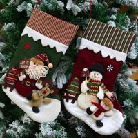 Wholesale Old Christmas Stockings - Creative Christmas Gifts Of High -Grade Cloth Art The Old Hang Christmas Gift Decoration Christmas Stockings