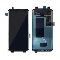 écran coulissant achat en gros de-Pour Samsung Galaxy S8 bord plus lcd G955 G955F G955A G955FD G955P G955S S9 bord plus écran tactile écran LCD Digitizer or livraison gratuite