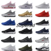 Wholesale Max Edition - New Max 97 Mens Low Running Shoes Cushion Women OG Silver Gold Anniversary Edition Sneakers Man Maxes Sport Athletic Sports Trainers Shoes