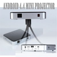 Atacado-2pcs S5 Pico Projeto Android 4.4 Built-in bateria portátil Wifi Bluetooth Mini LED Telemóvel Home Theater Micro Projector