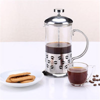 Wholesale Stainless Steel Tea Maker - 350ML 600ML Stainless Steel French Presses Cafetiere Insulated Coffee Tea Maker With Filter Double Wall Coffee Kettle Pot Silver