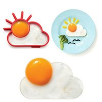 Wholesale Silicone Egg Rings - Breakfast Creative Silicone Cute Sun Cloud Egg Mold Fried Egg Mold Pancake Mold Kids Diy cooking tools Worldwide Sale