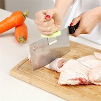 New Kitchen Knife Booster Power Knife Cap Cozinha Peeler Chopping Booster Cut Fish Chicken Bones Capa de suporte de faca de dupla final LZ0293