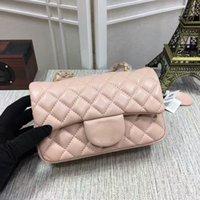 Wholesale Silver Wristlet Purse - high quality brand women sheepskin Leather Double Flaps Shoulder Bag totes handbags XXJ#15 purse MINI Gold  silver chain BAG (16 color) 1112