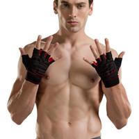 Wholesale Finger Support Gloves - Dumbbell Wrist Strap Non-slip Unisex Equipment Strength Training Half Finger Breathable Sports Gloves Fitness Gloves Wholesale 2524004