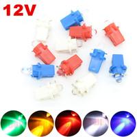 Wholesale Blue Indicator Lamp - 1X B8.3d T5 12v LED W3W Gauge Lamp Indicator Light Dashboard Instrument Light