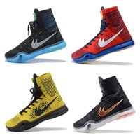 2017 KOBE 10 ELITE Men's Christmas High Top Ternando Basketball Shoes Tênis de calçado KB 10 Sneakers Shoes tamanho US8-12