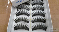 Wholesale Wholesale Hair Paris - free shipping wholesale price 1box= 10 Paris Mixed Style Black false eyelashes