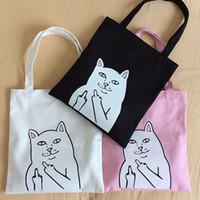 Wholesale Handbag Summer Folding - Ripndip Tote Bag Upgraded Summer Beach Bag Canvas Totes Casual Shopper Handbag Shoulder Shopping Bag