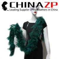 NO.1 Fornecedor CHINAZP Crafts 10 anos / lote 80G Fluffy Dyed Hunter Verde Turquia Chandelle Feather Boas e lenços