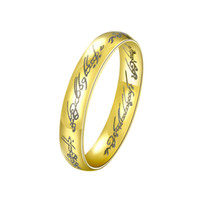 With Side Stones carved stone box - Lord of the Rings For Women Wizard Wording Carving Female Wedding Ring with Gift Box Jewelry Decoration Unique Gifts RG