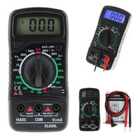 Wholesale Lcd Volt Ammeter - XL-830L LCD Digital Multimeter Voltmeter Ammeter AC DC OHM Volt Current Tester