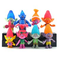 Wholesale Prince Gift Set - 8pcs Set Trolls Doll Figure Toy 11cm Poppy Branch Chef Bridget Prince Gristle Biggie Guy Diamond Creek Minifigure For Kids Gift