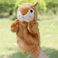 Wholesale Toy Squirrels For Kids - 1 Pcs 27CM Mini Cute Animals Hand Puppets For Kids Plush Hand Puppets Animals Squirrel Cartoon Hand Puppets Cheap Toys