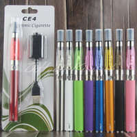 Wholesale E Liquid Charger - eGo-t vape pen ce4 atomizer wicks ego-t e liquid vaporizer pens ecig charger blister starter kits