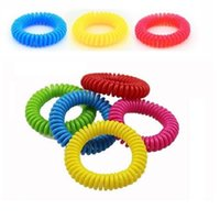 Wholesale New Mosquito Repellent Bracelet Stretchable Elastic Coil Spiral hand Wrist Band telephone Ring Chain Anti mosquito bracelet wa2858