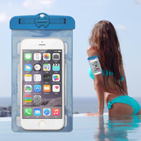 Wholesale Swim Professional - Professional Waterproof Bag Case Pouch Double insurance For Samsung Diving Swimming Cell phone Water Proof Mobile Underwater Pouches Dry