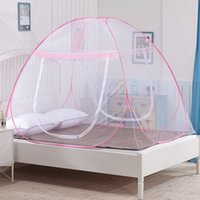 Wholesale Mongolia Mosquito Nets - New Arrival Home Textile Net Hung Dome Mongolia Mosquito Net Bed Yurt Insect Bed Canopy Netting Curtain Size S-XL JQ0071