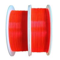 lumières de câble de fibre optique achat en gros de-1.5mm de fibre optique fluorescente Câble Rouge Orange Vert néon PMMA fibre optique pour décorations de tir à la vue des armes à feu x 5 M