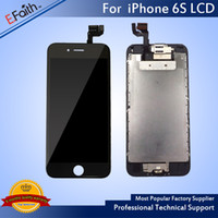 Wholesale Iphone Display Home Button - LCD Display For Black iPhone 6S 4.7 inch Touch Screen with Digitizer Bezel Frame+Home Button+Front Camera Full Assembly & Free Shipping