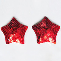 Wholesale Adult Sex Toys Lingerie - cheap red sexy women's star sequin pasties breast bra adhesive nipple cover sex toy for adult erotic costume lingerie 17308