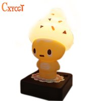 Wholesale Cute Desk Light - Wholesale- Cute USB Ice Cream Cone Shaped Night Light LED Desk Table Lamp Kids Children Bedroom Decoration Lights Girlfriend Gift